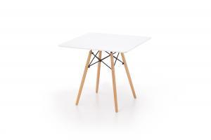 HALMAR Prometheus jedálenský stôl biely lesk / buk