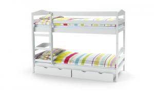Halmar SAM poschodová posteľ s matracom biela