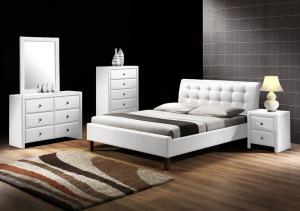 HALMAR Samara 160 čalúnená manželská posteľ s roštom biela