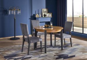 HALMAR Sorbus 100/200 okrúhly rozkladací jedálenský stôl dub medový / grafit