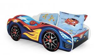 HALMAR Speed detská posteľ s roštom a matracom kombinácia farieb