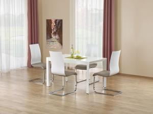 HALMAR Stanford rozkladací jedálenský stôl biely lesk