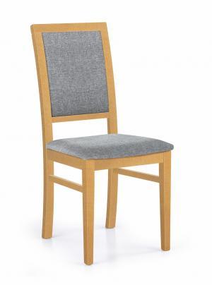 HALMAR Sylwek 1 jedálenská stolička dub medový / sivá