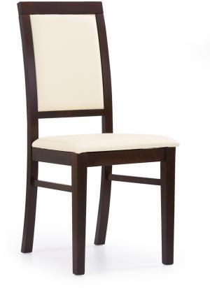 HALMAR Sylwek 1 jedálenská stolička orech tmavý / krémová