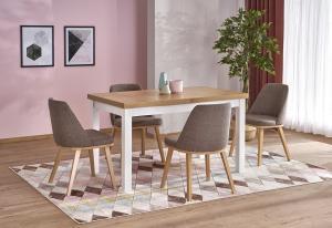 HALMAR Tiago 2 rozkladací jedálenský stôl dub riviera / biela