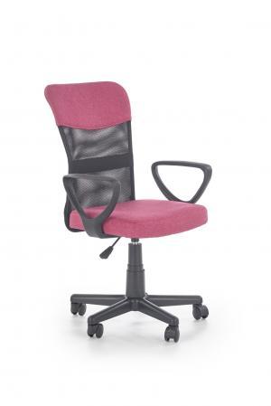 HALMAR Timmy kancelárska stolička s podrúčkami ružová / čierna