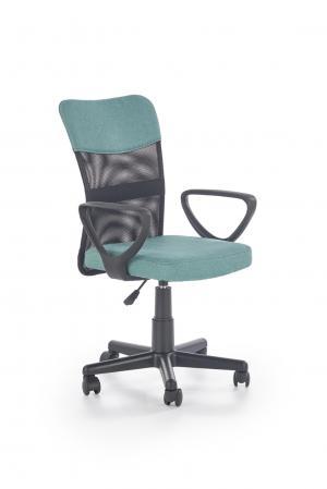 HALMAR Timmy kancelárska stolička s podrúčkami tyrkysová / čierna