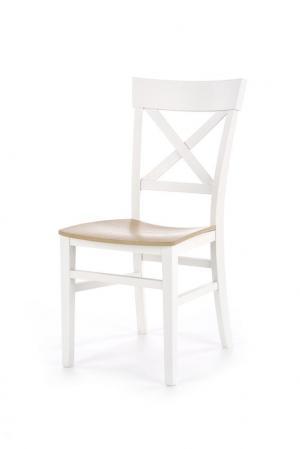 HALMAR Tutti jedálenská stolička biela / dub medový