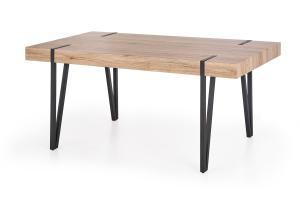 HALMAR Yohann jedálenský stôl dub san remo / čierna