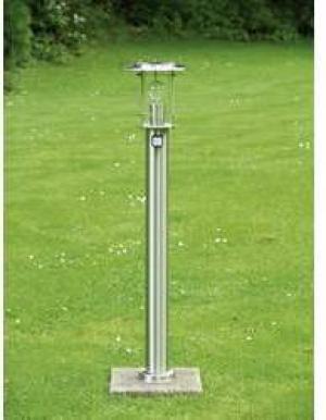 Halogénová žiarovka vonkajšie stojanové osvetlenie s PIR senzorom Brilliant York 44799/82, E27, 60 W, N/A, nerezová oceľ