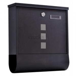 HANS poštová schránka čierna, Čierna