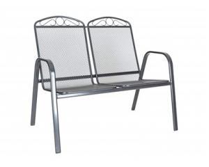 HAPPY GREEN Židle zahradní ocelová GARDE DOUBLE 106 x 69 x 93 cm, dvojitá