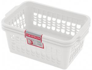 heidrun Plastový košík HEIDRUN 30x19,5x13cm 3ks