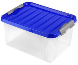 heidrun Plastový úložný box s vekom HEIDRUN Clip box 14l