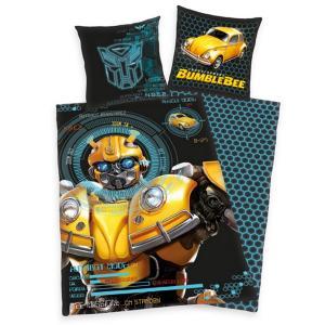 Herding Detské bavlnené obliečky Transformers Blumblebee, 135 x 200 cm, 80 x 80 cm