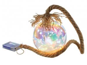HIT Vianočná LED dekorácia 15cm dúhová guľa