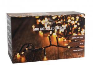HIT Vianočná svetelná reťaz 500 LED IP44 10m s časovačom