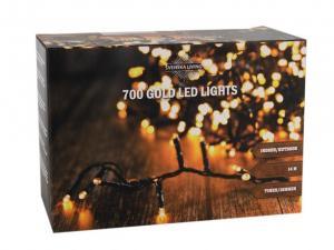 HIT Vianočná svetelná reťaz 700 LED IP44 14m s časovačom