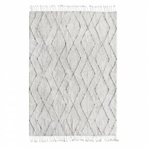 HK living Bavlnený koberec Black and White 140x200cm