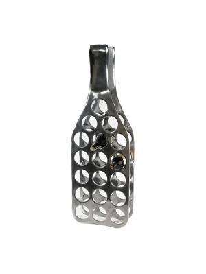 Hliníkový stojan na víno Bottle, 104 cm