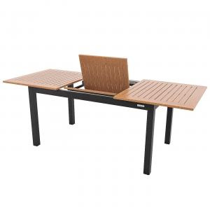 Hliníkový stôl rozkladací BIANCA 220/280x100 cm (antracit)