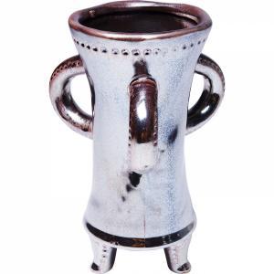 Hnědá kameninová váza Antiquity 26 cm