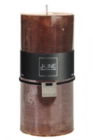 Hnedá nevonná sviečka L valec- Ø 7 * 15 cm / 72H