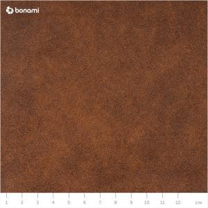 Hnedá pohovka z imitácie kože MESONICA Puzo, 240 cm