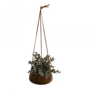 Hnedý keramický závesný kvetináč PT LIVING Unique, ø 20,5 cm