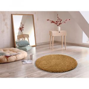 Hnedý koberec Universal Aqua Liso, ø 100 cm