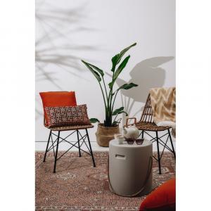 Hnedý pléd s podielom bavlny Euromant Mallorca, 140 x 160 cm