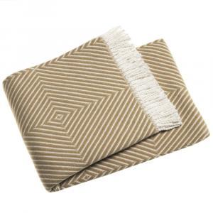 Hnedý pléd s podielom bavlny Euromant Tebas, 140 x 160 cm