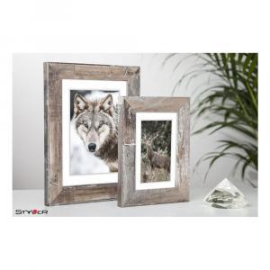 Hnedý rámik na fotografiu Styler Bergen Shabby, 46x56cm