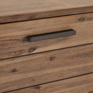 Hnedý TV stolík z masívneho dreva Furnhouse Mallorca