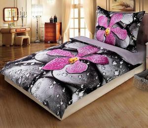 HoD Obliečky 3D Orchidea Mikrovlákno 70×90 140x200 cm