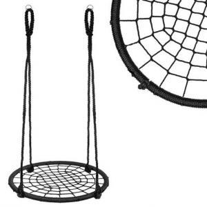 Hojdací kruh pavučina - 100 cm - čierny