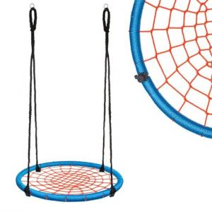 Hojdací kruh pavučina - 120 cm - červeno-modrý
