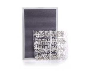 HOME DECOR Tabule fleece s písmeny 33 x 48 cm, šedá, rám bílý
