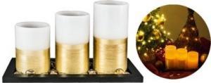 HOME Sada LED voskových sviečok, 7,5cm x 10 cm, 12,5 cm, 15 cm sviečky CDW 3