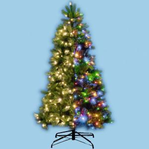 Home umelý vianočný stromček so zabudovaným LED osvetlením