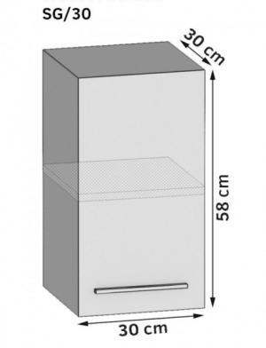 Horná kuchynská skriňa 30 cm