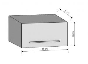 Horná kuchynská skriňa s otváraním hore 60 cm