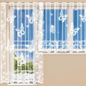 Hotová žakárová záclona JESSICA - balkónový komplet