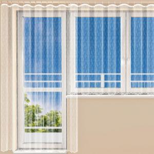 Hotová žakárová záclona MOLLY balkónový komplet