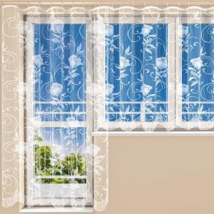 Hotová žakárová záclona VERONIKA - balkónový komplet