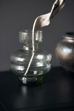 House Doctor Sklenená váza Organi Green - menšia
