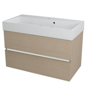 Hranatá závesná skrinka pod umývadlo LARGO, 89x50x45 cm, dub benátsky