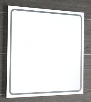 Hranaté štvorcové zrkadlo GEMINI II, s led osvetlením.  - 55x55