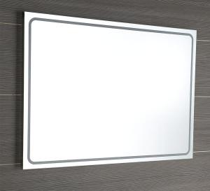 Hranaté zrkadlo GEMINI II s led osvetlením - 50x70