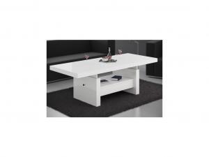 HUBERTUS Konferenčný stolík AVERSA Farba: biela